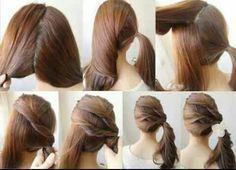 cute simple easy hairstyle