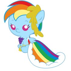Baby Rainbow Dash's Gala Dress by Beavernator.deviantart.com on @deviantART
