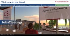 "SECOND LIFE · A section from the microsite on our web that explained the benefits of the Island of Barcelona Virtual in that 3D virtual metaverse · 2009  With our ""CEL"" (Centro de E-Learning) we experimented with telepresence and e-learning in 3D environments."