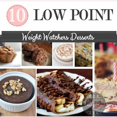 10 Low Point Weight Watchers Desserts - The Girl Creative