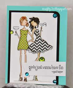 Happily Swimming in Stamps! Stamping Bella VICTORIA and JULIETTE'S night out image