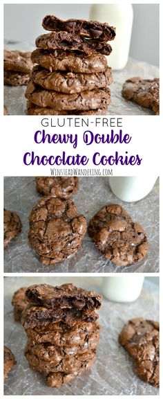 You won't miss the flour in these delightfully chewy, perfectly fudgy, beautifully crinkly Gluten-Free Double Chocolate Cookies.