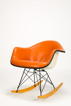 2 Eames Rocking Chairs Leather