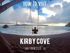 Kirby Cove in San Francisco, CA offers beautiful views of the iconic Golden Gate Bridge and the Pacific Ocean.