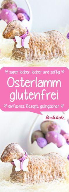 Das beste glutenfreie Osterlamm, das ich je gebacken habe. Optional #vegan #glutenfrei #laktosefrei #osterrezept #rührteig #backen