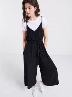 <p>Strappy Culotte Jumpsuit</p>