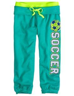 Sports Roll Cuff Sweatpant Capri   Sweatpants   Sweatpants   Shop Justice