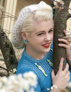 NEW The Vintage Bunny Hair Snood in White Mohair by ArtheliasAttic, $28.99