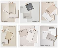 Farrow & Ball Paint Colours - LOVE the Architectural Cool palette Painting Ideas interior paint Farrow Ball, Farrow And Ball Paint, Farrow And Ball Bedroom, All White Farrow And Ball, Farrow And Ball Kitchen, Neutral Color Scheme, Neutral Paint, Warm Grey Paint, Gray Paint