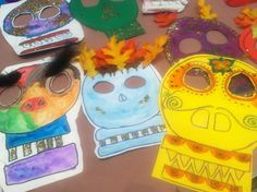 South America: Dia de los Muertos Masks - Celebrating our ancestors and the Day of the Dead