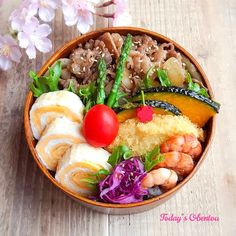 Pin on Food and drink Pin on Food and drink Bento Recipes, Lunch Box Recipes, Japanese Lunch Box, Japanese Food, Exotic Food, Bento Box Lunch, Recipes From Heaven, I Love Food, Asian