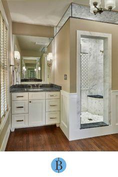 A stunning bathroom remodel by Blackline Renovations in Dallas, TX. Traditional Bathroom, Remodels, Double Vanity, Master Bathroom, Dallas, Remodeling Ideas, Master Bath, Refurbishment, Master Bathrooms