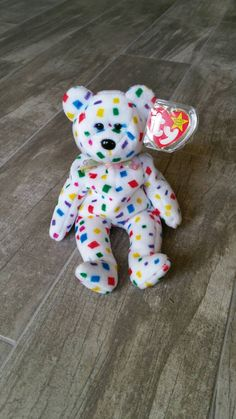 d97622331fa RARE TY 2K Bear Original Beanie Baby Collectible Plush Girl Boy Toy  Birthday Party Gift Celebrate New Year Christmas Confetti Home Decor