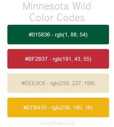 Minnesota Wild Paint Colors