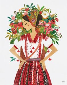 Flower Girl  8x10 art print by oanabefort on Etsy