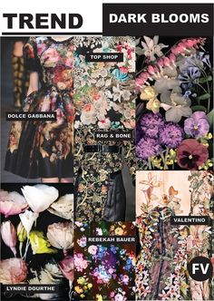 FASHION VIGNETTE: [ TREND REPORT ] DARK BLOOMS