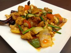 Stir Fried Roosted Cashew Nuts and Assorted Vegetables in Smoked Chilli Jam with Your Choices. - (Phad Med Mamuang Himapan) Find more #ThaiFood dishes: http://www.classicthai.com.au/