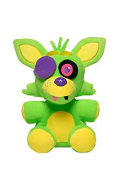 Five Nights at Freddy's Blacklight 6-Inch Plush by Funko Blacklight Foxy Green & Yellow plush Cuddle up with the terrifying animatronics from Five Nights at Freddy's! This Five Nights at Freddy's 6-inch Plush from the hit survival-horror game.