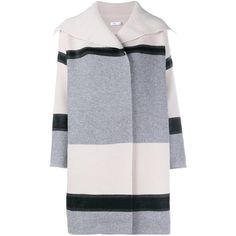 Vince Colour Blocked Wool Car Coat ($620) ❤ liked on Polyvore featuring outerwear, coats, jackets, coats & jackets, casacos, wool car coat, wool coat, color block coat, woolen coat and car coat
