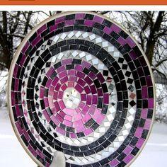 Purple mosaic art!