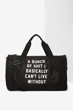 awesome Danielle Guizio Important Sh*t Duffel Bag