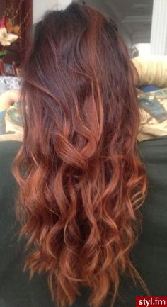 Gorgeous Red Brown Ombre Hair