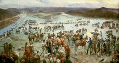 The Long Road to Victory | WNC Magazine - In his painting, Gathering of the Mountain Men at Sycamore Shoals, Lloyd Branson (1855-1926) depicts the muster of more than 1,000 men from Tennessee, Virginia, and North Carolina prior to their march to South Carolina.