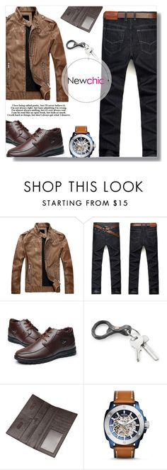 """""""Newchic *20"""" by fashion-pol ❤ liked on Polyvore featuring FOSSIL, men's fashion and menswear"""