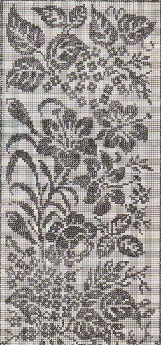 New Ideas Crochet Doilies Filet Cross Stitch Filet Crochet Charts, Crochet Cross, Crochet Art, Knitting Charts, Thread Crochet, Knitting Stitches, Crochet Doilies, Cross Stitch Rose, Cross Stitch Flowers
