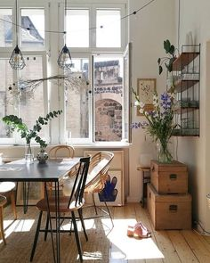 Images and videos of home decor - A mix of mid-century modern, bohemian, and industrial interior style. Home and apartment decor, decoration ideas, home. Küchen Design, House Design, Design Ideas, Nordic Design, Rustic Bathroom Designs, Dream Apartment, Bohemian Apartment, Paris Apartment Interiors, Apartment Design