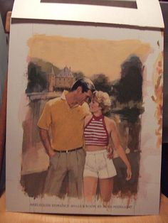 Original of book cover  Illustrated by Will Davies  Harlequin Romance  Year unknown