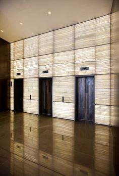 Elevator lobby of the lagerstrasse house office building for Elevator flooring options