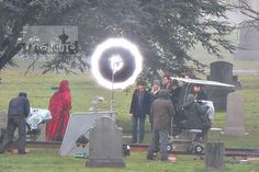 "Ruby(Meghan Ory) and the gang — Henry (Jared Gilmore), Emma (Jennifer Morrison), Hook (Colin O'Donoghue), Regina (Lana Parrilla), Charming (Josh Dallas) and Snow (Ginnifer Goodwin) — in the cemetery.-  Behind the scenes - 5 * 19 ""Sisters"" - 6 Feb 2016"