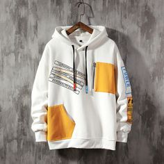Stylish Hoodies, Cool Hoodies, Yellow Hoodie, Hoodie Outfit, Sweater Hoodie, Mode Streetwear, Fashion Outfits, Emo Outfits, Punk Fashion