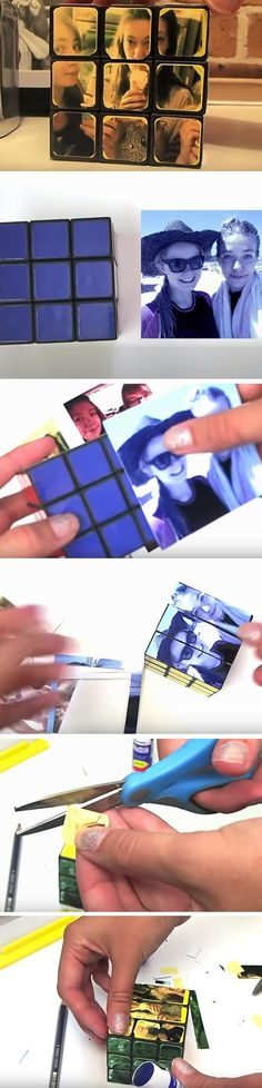 Rubiks Cube Photos | Last Minute DIY Christmas Gifts for Kids | Easy to Make Christmas Gifts                                                                                                                                                                                 Más