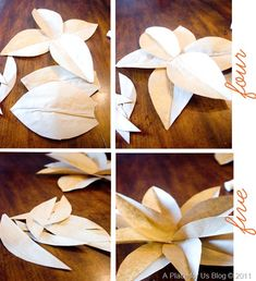 Brown Paper Flowers Tutorial