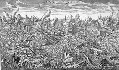 Copper engraving showing the 1755 Lisbon earthquake and ensuing tsunami. Leiden, History Of Portugal, Earthquake And Tsunami, Site Archéologique, Weather Warnings, Evil World, All Saints Day, Psychedelic Art, Monuments