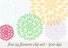 yuniquelysweet.blogspot.com - Free Flowers Clipart