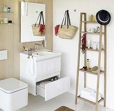 Ideas para ganar zona de almacén en el baño.