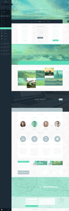 That's a lot of cyan! But i like the pop outs, and overlays.  Cyan Theme by Malte Westedt