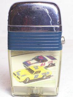 Vintage NASCAR Scripto Vu Lighter Car #12 & #44 with Flint & Wick Made in USA  $9.99