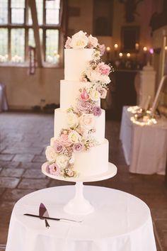 5 Tier Wedding Cakes, Buttercream Wedding Cake, Floral Wedding Cakes, Elegant Wedding Cakes, Cool Wedding Cakes, Beautiful Wedding Cakes, Wedding Cake Designs, Wedding Cake Toppers, Blush Pink Wedding Cake