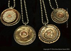 amazing Smashed Button Jewelry by Christine Marie Davis