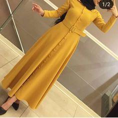 Modest Fashion Hijab, Abaya Fashion, Fashion Dresses, Muslim Dress, Hijab Dress, Sunmer Dresses, Muslim Women Fashion, Hijab Fashionista, Looks Vintage