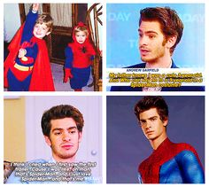 """The Amazing Spider-Man ...  """" I've been a fan of Spider-Man since I was three years old. I needed Spidey when I was a kid and he gave me hope. He made me, Andrew, braver. Spider-Man has saved lives, and he saved my life."""" - Andrew Garfield"""