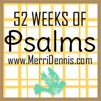 """free online class and 2014 challenge ...""""Faith Journal/Smash Book: 52 Weeks of Psalms"""" - The class is for anyone wanting to add creativity, prayer, and praise to your life. - www.MerriDennis.com"""