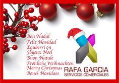 Rafa García Servicios Comerciales desea a sus clientes y amigos una Feliz Navidad y un próspero 2015  www.rafagarcia.eu