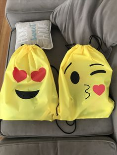 Favors for my daughters emoji party