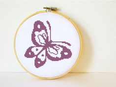 Counted Cross stitch Pattern PDF. Instant download. Butterfly. Includes easy beginner instructions.. $4.50, via Etsy.