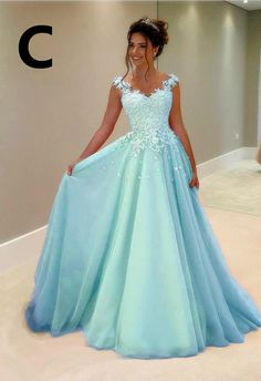 A Line Lace Appliques Long Chiffon Prom Dresses With Nude Tulle Neckli – alina. - A Line Lace Appliques Long Chiffon Prom Dresses With Nude Tulle Neckli – alinanova Light blue Tulle prom dresses lace cap sleeves Source by - Baby Blue Prom Dresses, Pretty Prom Dresses, Light Blue Dresses, Quince Dresses, Tulle Prom Dress, Ball Dresses, Homecoming Dresses, Evening Dresses, Party Dress